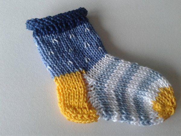 Photo of Knit baby socks /// striped socks
