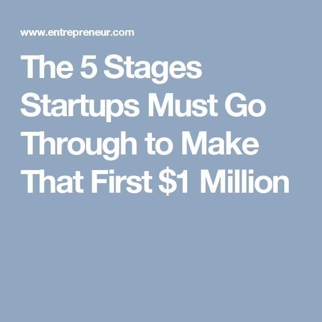The 5 Stages Startups Must Go Through to Make That First $1 Million