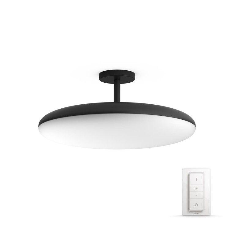 Design Deckenleuchte mit LED Farbwechsler und Fernbedienung Deckenlampe Chrom