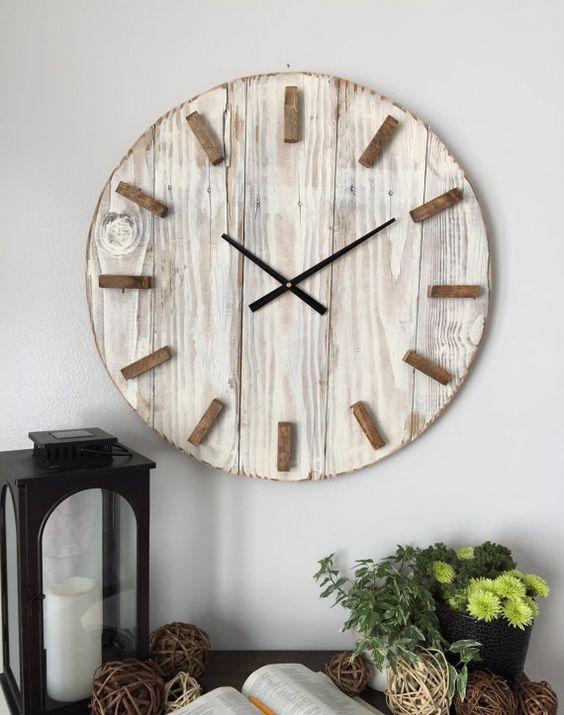 Reloj De Pared Palets Relojes De Pared Grande Relojes De Pared Decoracion Tropical Del Hogar