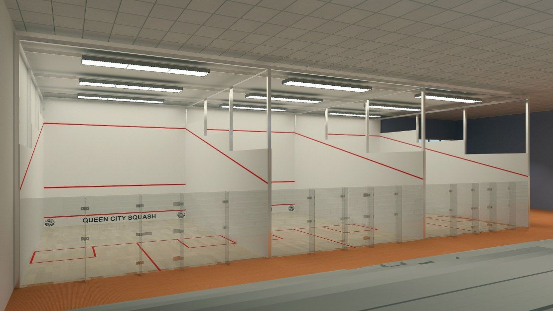 The T Squash Center Finished Diy Room Divider Room Divider Interior Rendering