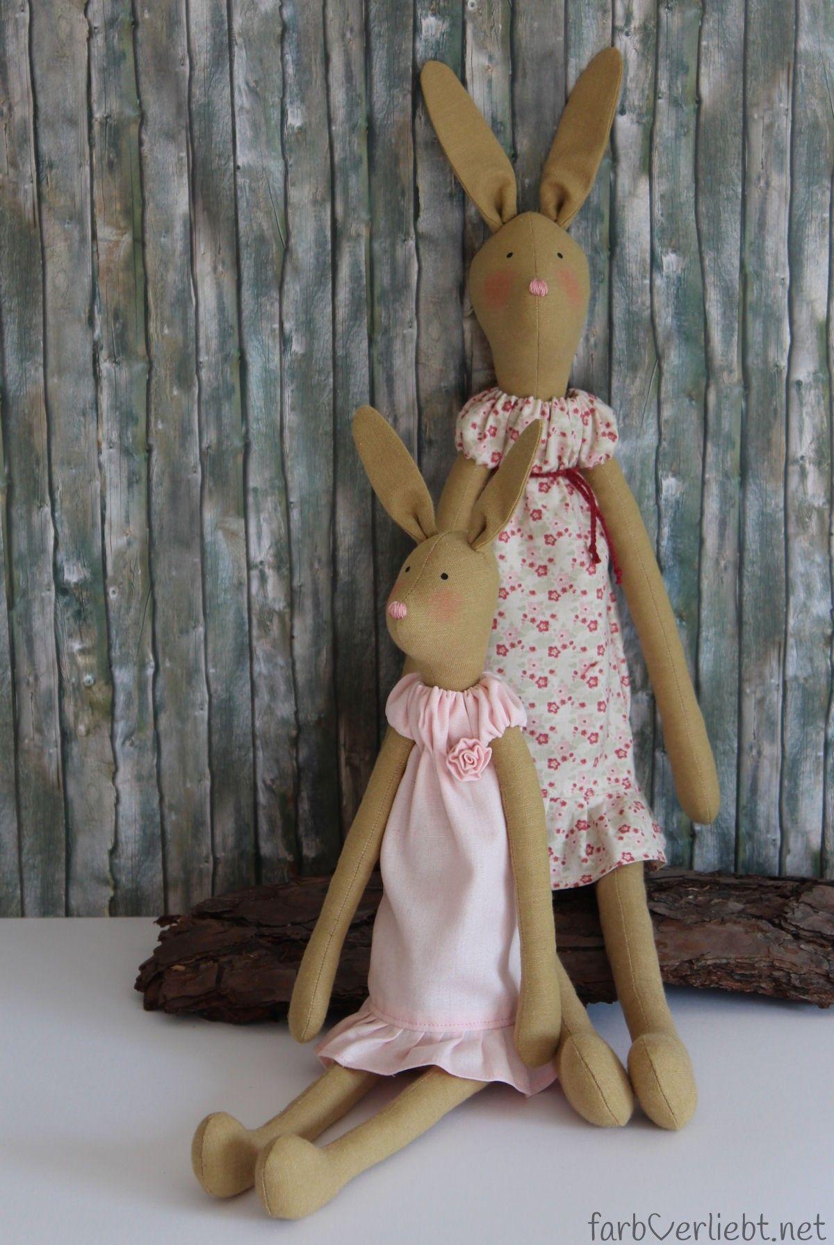 Tilda Hare Mother and Child made by farbverliebt | Tilda | Pinterest ...