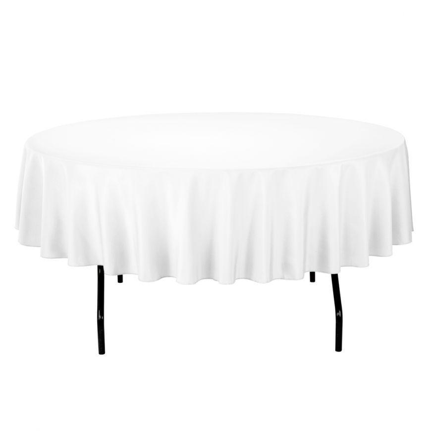 Cool 90 In Round Polyester Tablecloth Wedding Round Interior Design Ideas Gentotryabchikinfo