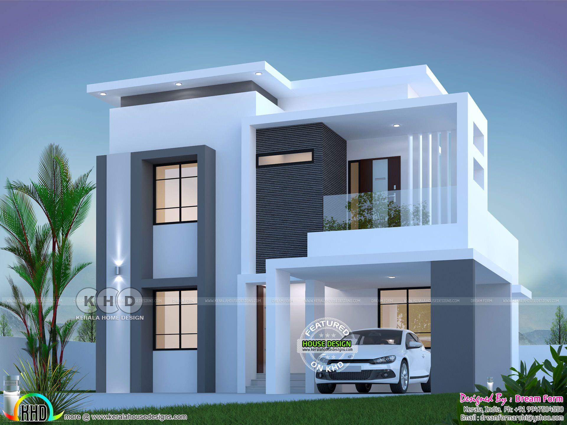 1800 Square Feet 3 Bedroom Elegant Double Storied House Duplex House Design Bungalow House Design Kerala House Design