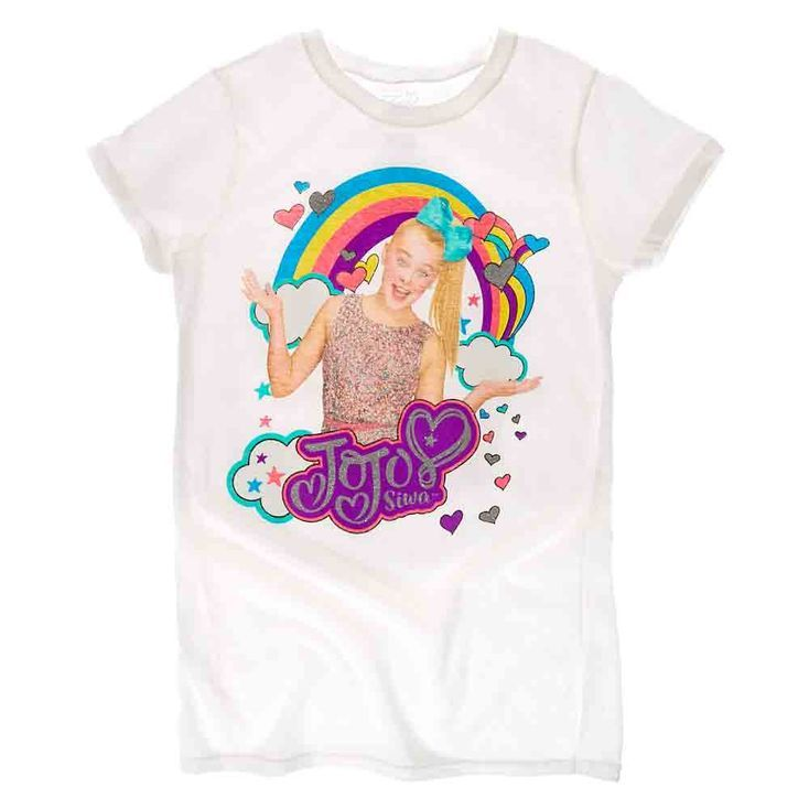9d5ed61d Girls JoJo Siwa Rainbow Tee | Cora's birthday in 2019 | Jojo siwa ...