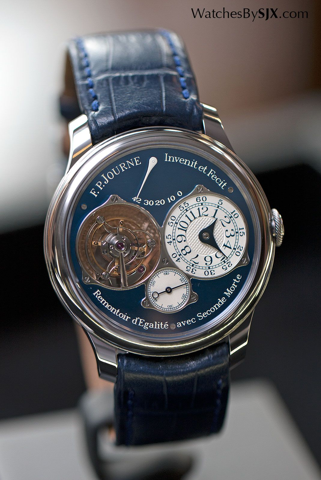 937245c9019 Watches By SJX  Hands-On with the F.P. Journe Tourbillon Souverain Bleu for  Only Watch 2015