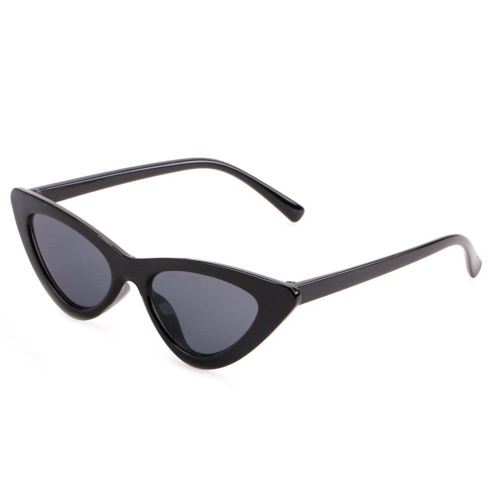 42fe0fb3b6 Creamily Vintage Cat Eye Sunglasses for Boys Girls Plastic Frame Clout  Goggles Retro Mod Style Junior