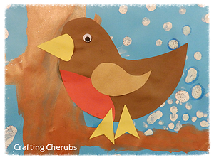 Robin Craft Toddler Winter Bird