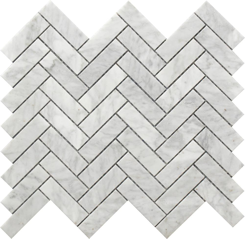 Herringbone 12 X12 Marble Mosaic Ustmherr001 In 2020 Marble Herringbone Tile Carrara Mosaics Marble Mosaic