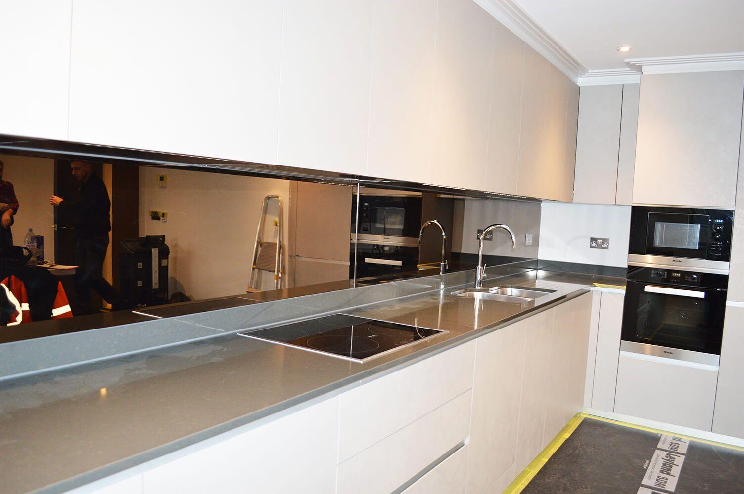 Modern Kitchen Mirror Splashbacks Mirror Splashback Kitchen Mirror Glass Splashbacks Kitchen