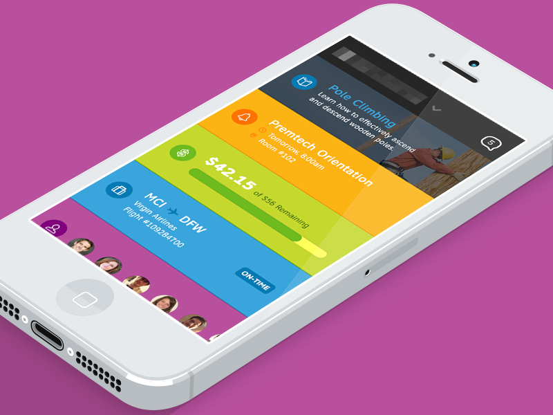 New iOS designs for a major telecom company. by Chaotic Moon Studios