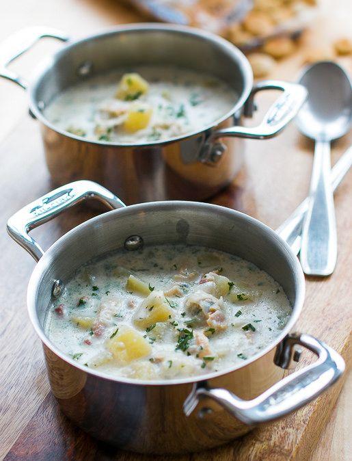 New England Clam Chowder Recipe Food Recipes Chowder Chowder