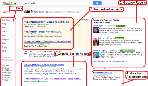 The Anatomy of a Google Search Engine Results Page