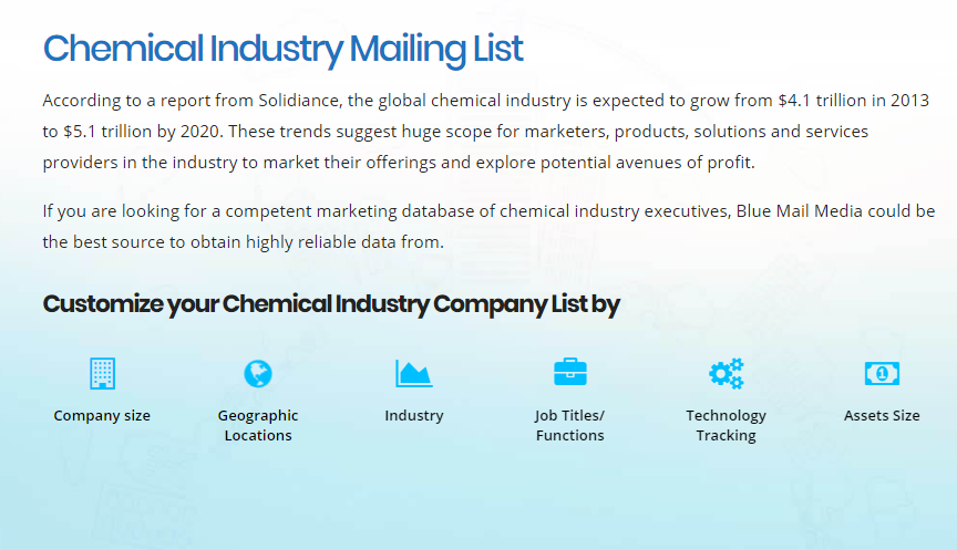 Chemical Industry Mailing List | Industry Mailing List | Chemical