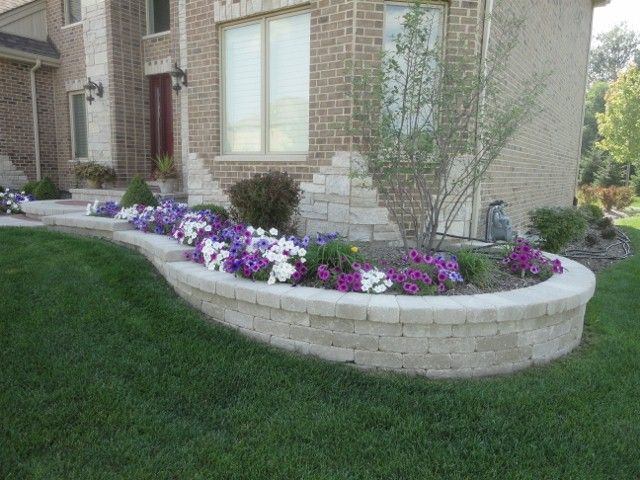 retaining wall flower beds google search new house