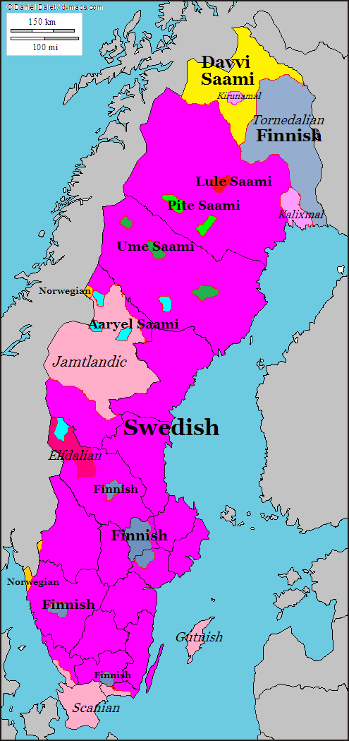 Linguistic Map Of Sweden Language Pinterest Language - Norway language map