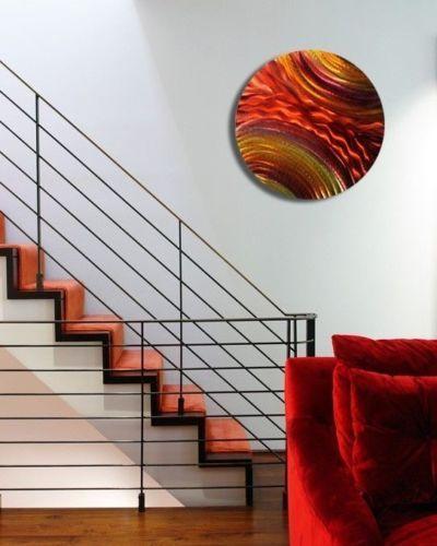 Home Decor Hanging Metal Circle Wall Art Sculpture Modern Contemporary Abstract Home Decor Home Garden Yuki Be