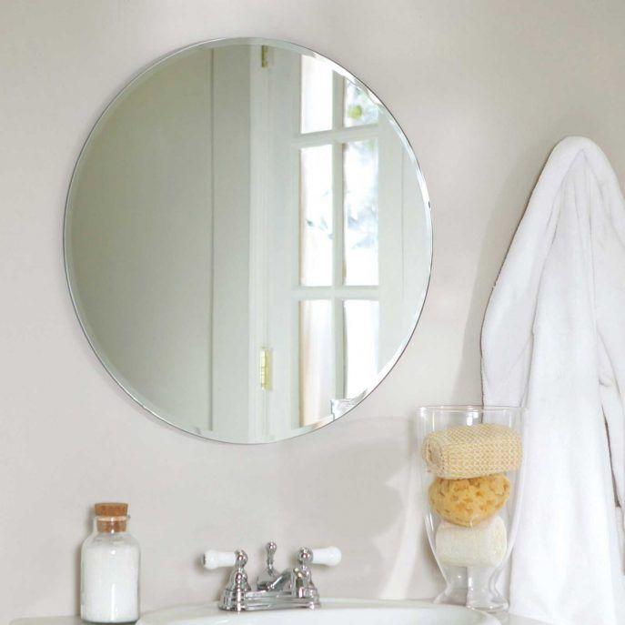 bathroom:frameless bathroom mirror ideas cheap full length