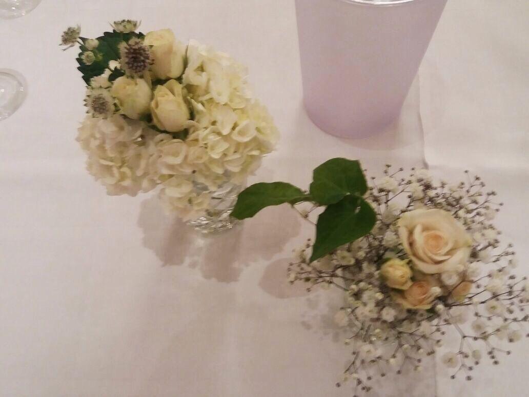 Sommerlich Leichte Tischdeko In Creme Grun Tonen Tischdekoration