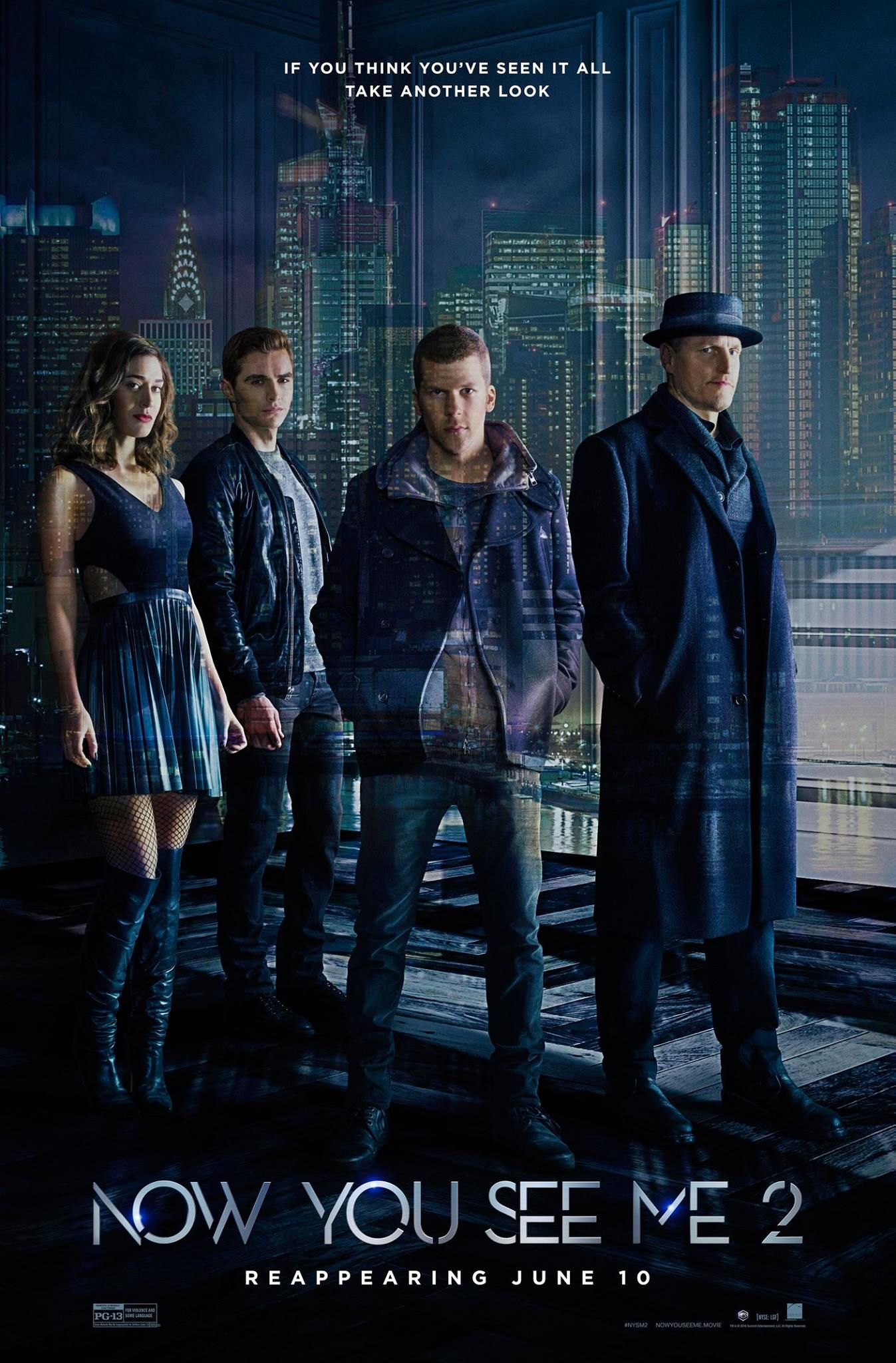 NOW YOU SEE ME 2 Starring Jesse Eisenberg, Dave Franco