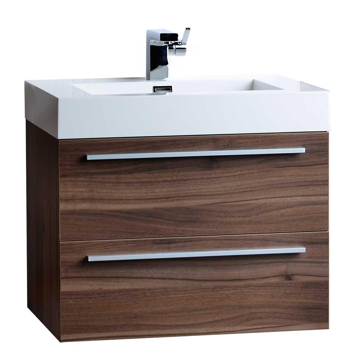 26 75 Single Bathroom Vanity Set In Walnut Tn T690 Wn