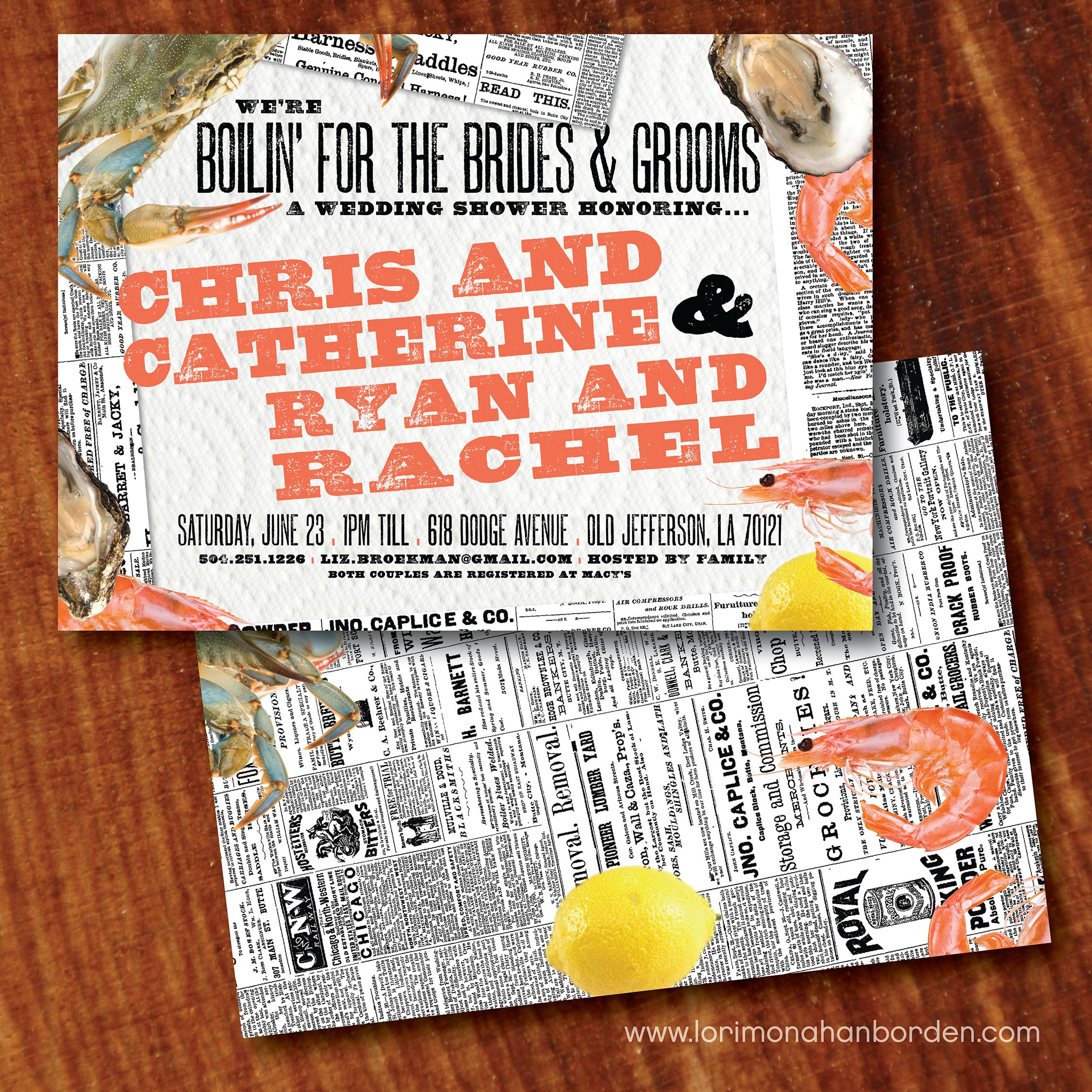 Crawfish Crab and Shrimp Boil Couples Shower New orleans party ...