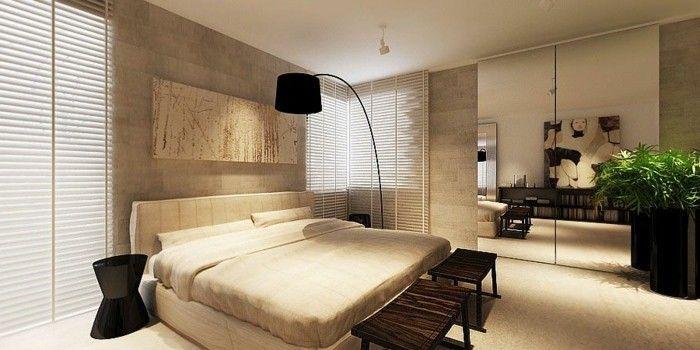 wanddeko ideen wandbilder schlafzimmer pflanzen | Wandgestaltung ...