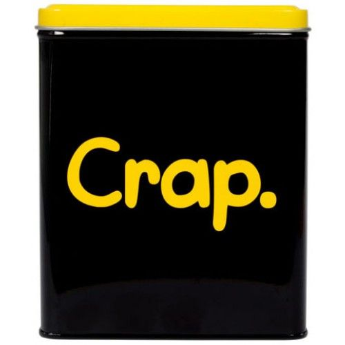 Crap Tin By Waldo Pancake From Sarah J Home Decor. $16.95