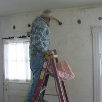 How To Insulate Interior Walls That Are Already Drywalled Hunker Wall Insulation Diy Interior Wall Insulation Blown In Insulation