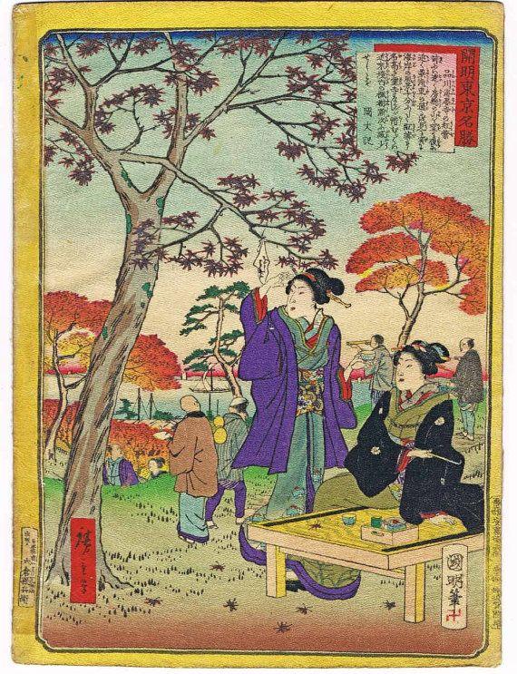 Asian 3 Maidens Geishias Woodblock Japanese Counted Cross Stitch Pattern
