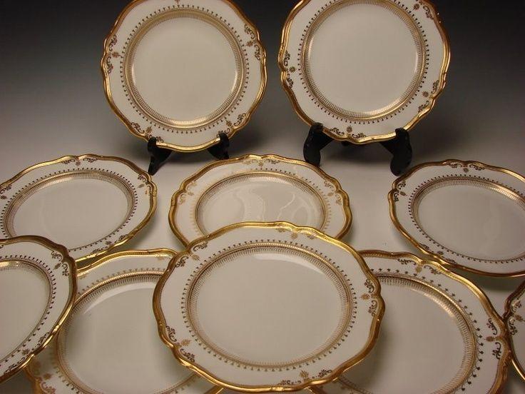 Antique Spode Copeland China Elegant Gilt Porcelain Dinner Plate . & Antique Spode Copeland China Elegant Gilt Porcelain Dinner Plate ...