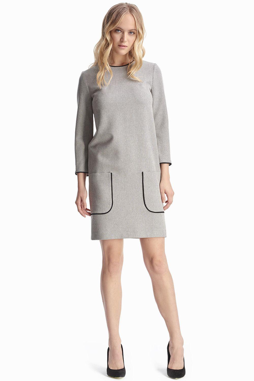 1e7219c05bc7bc1 Платье прямого силуэта с накладными карманами 2018 купить в  интернет-магазине женской одежды Natali Bolgar