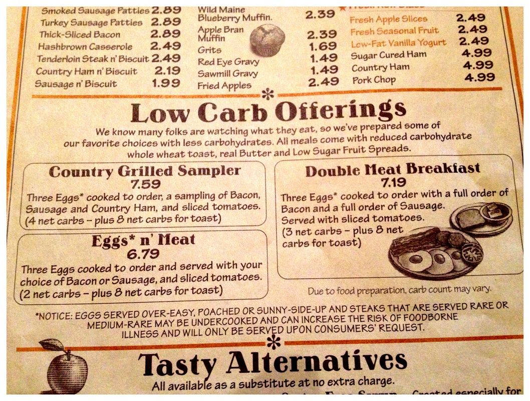 image relating to Cracker Barrel Printable Menu titled Cracker Barrel very low carb breakfast Reduced carb Programs at