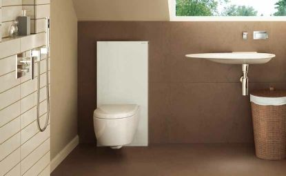 Geberit Monolith In White For Wall Hung Toilets Geberit Monolith Gaste Wc Badezimmer