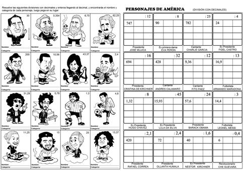 Divisiones variadas (incluye decimales) | Worksheets | Pinterest ...