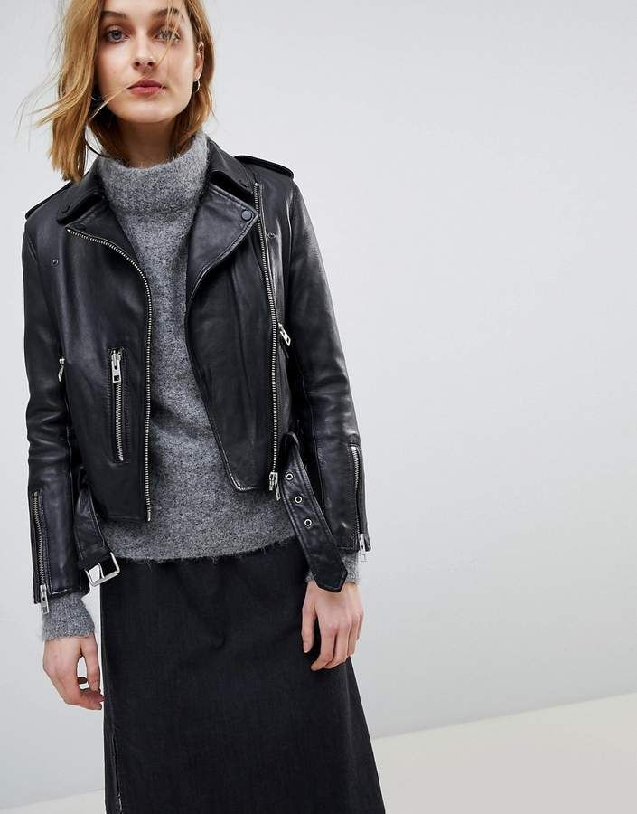 a0005867c AllSaints Leather Balfern Biker Jacket | allsaints | All saints ...