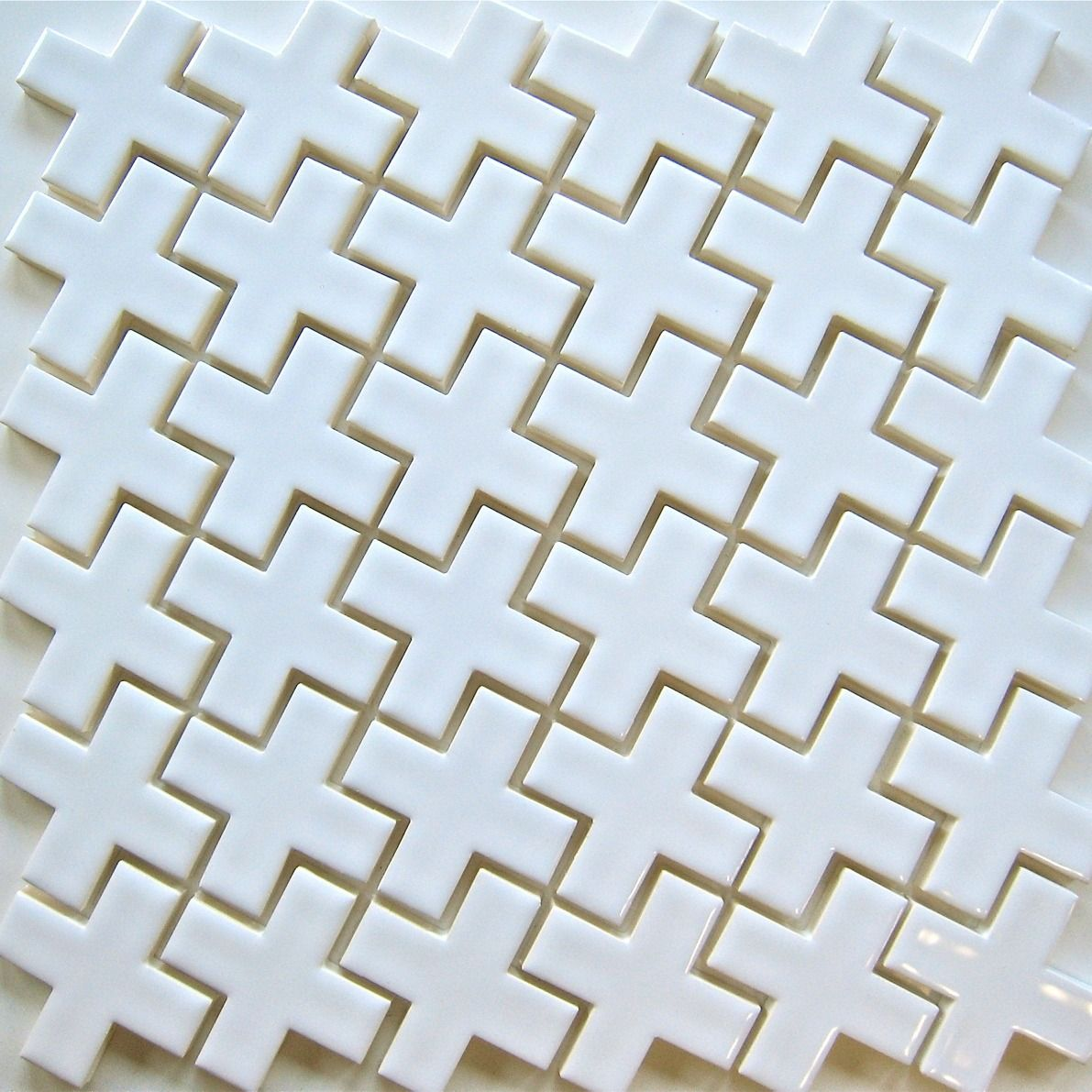 Mosaic tile Plus Mosaic white ceramic tile for kitchen backsplash ...