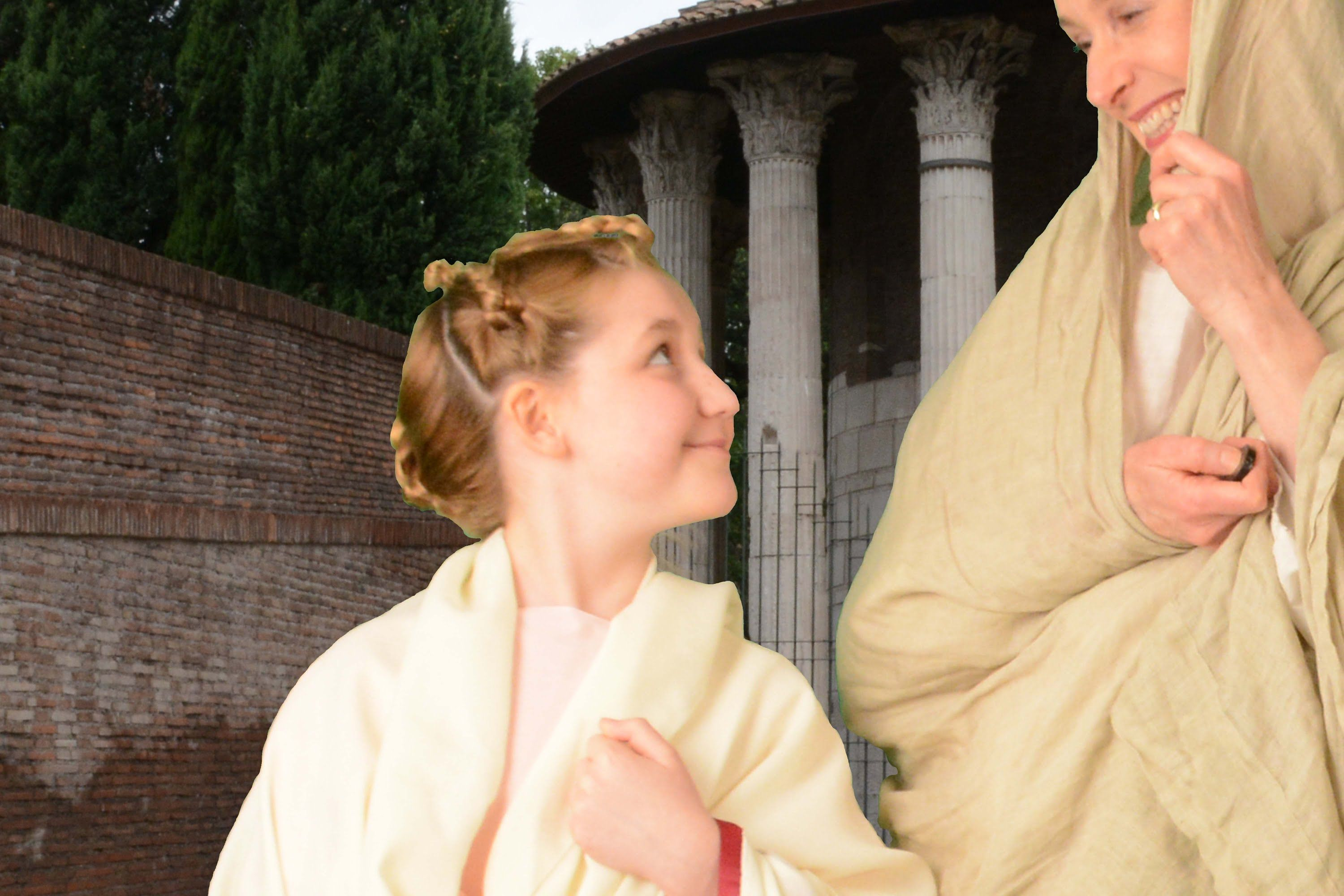 Hairstyle Of A Young Roman Girl 40 S Bc Roman Hairstyles Historical Hairstyles Roman Hair