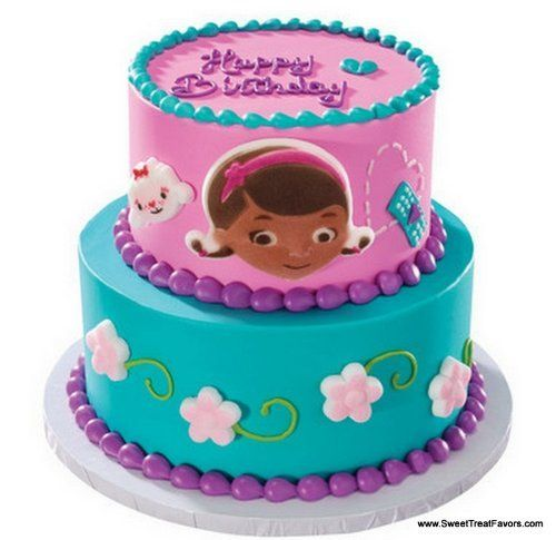 doc mcstuffins cake topper edible decoration party:amazon:kitchen