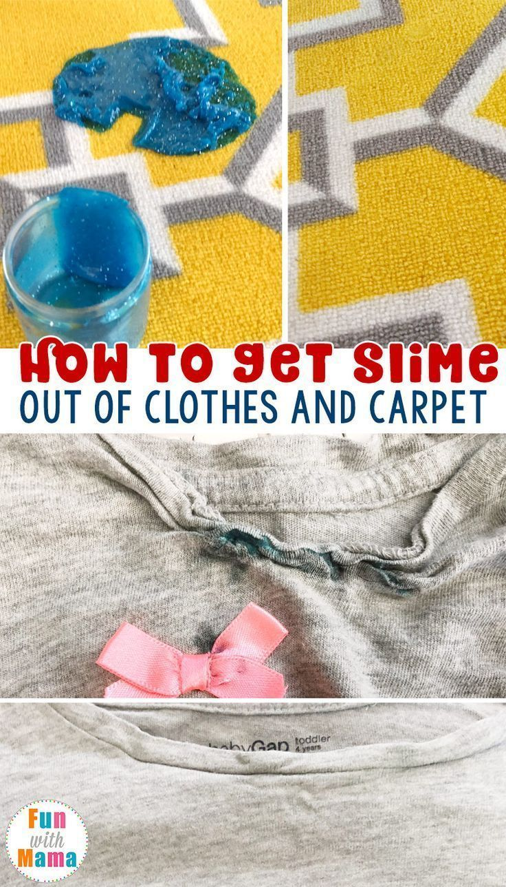 How to get slime out of clothes and carpet how to clean