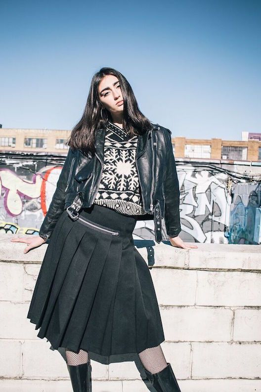 """Comme des Garcons Pleated """"Goth"""" Skirt"""