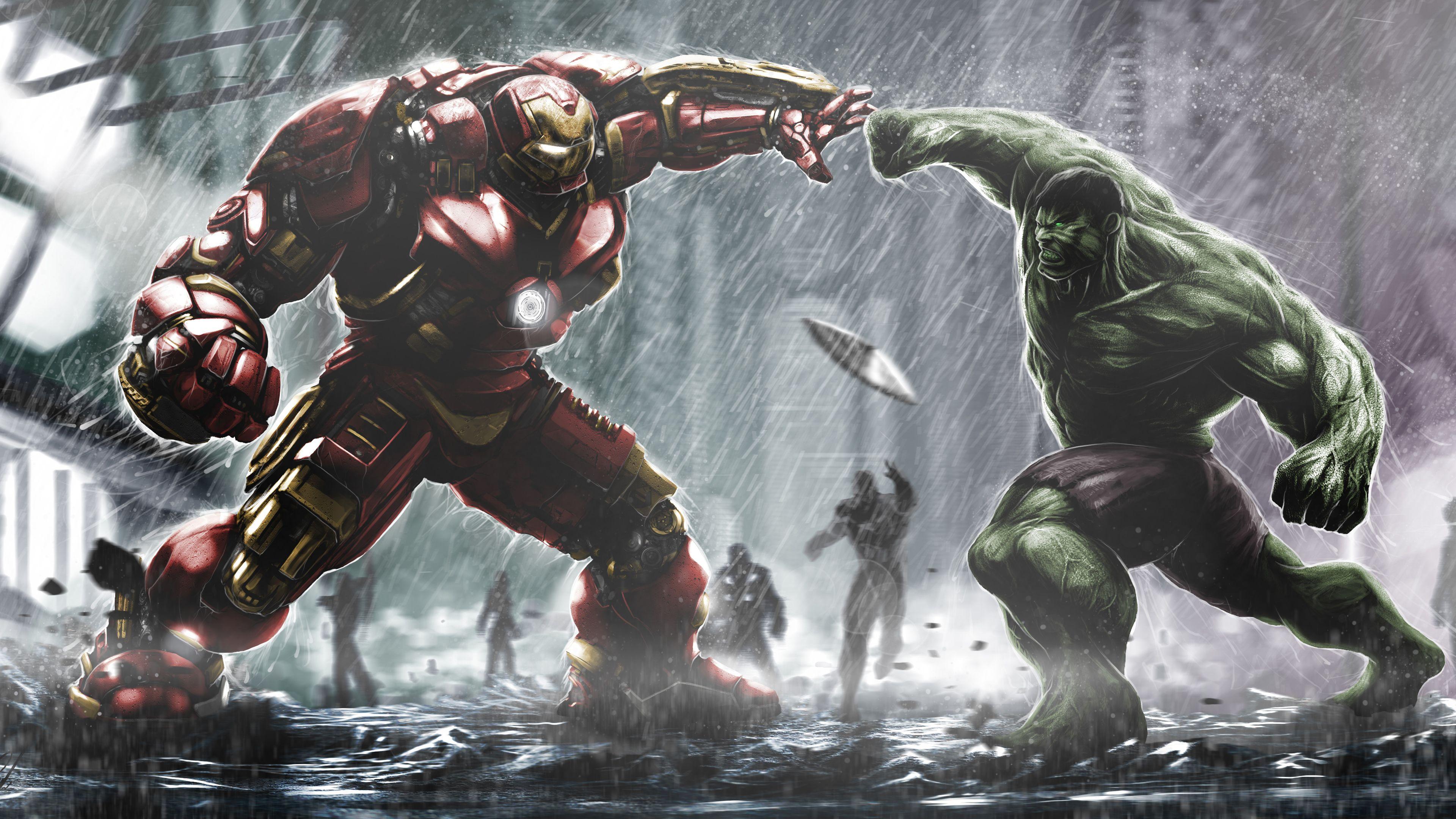 Hulkbuster Vs Hulk 4k Super Heroes Wallpapers Hulk