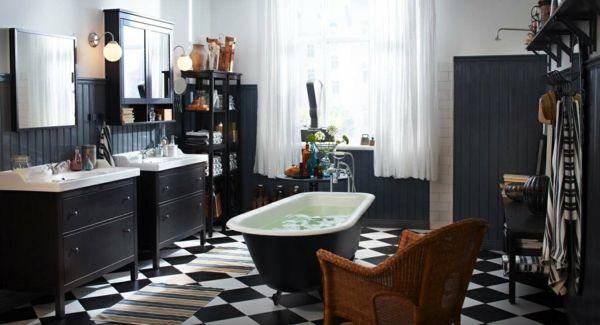 freistehende badewanne schachmatt bodenfliesen Haus Bad Pinterest - bodenfliesen für badezimmer