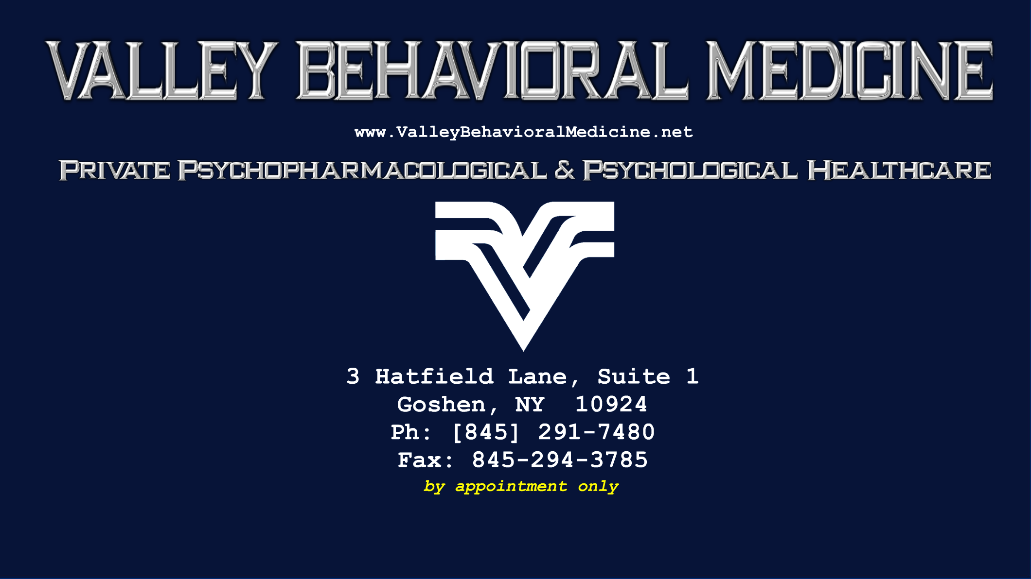 Valley Behavioral Medicine [VBM] is an Orange County, New