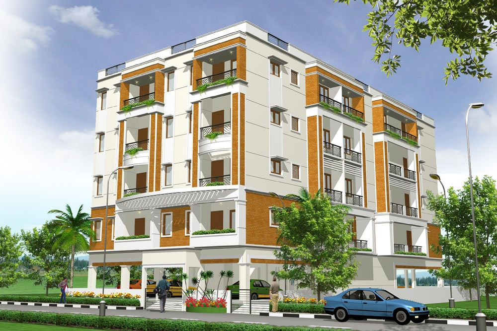 Vimal arch designs chennai india exterior design of for Apartment building design ideas