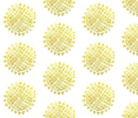 Sunflower fabric by tarynillustrates on Spoonflower - custom fabric