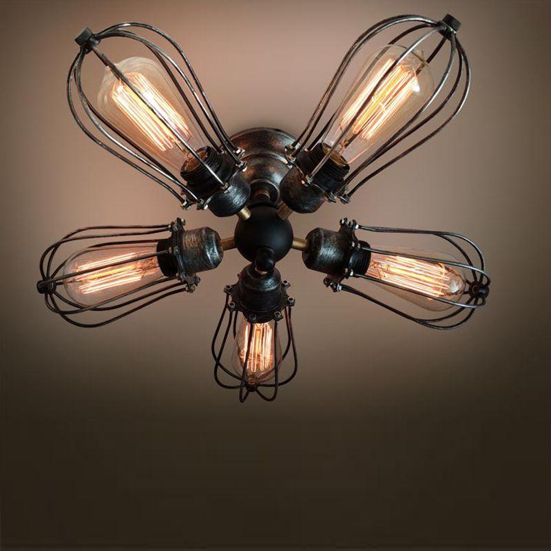 5 bras industrielle ampoule Edison de la lumi¨re au plafond plafond