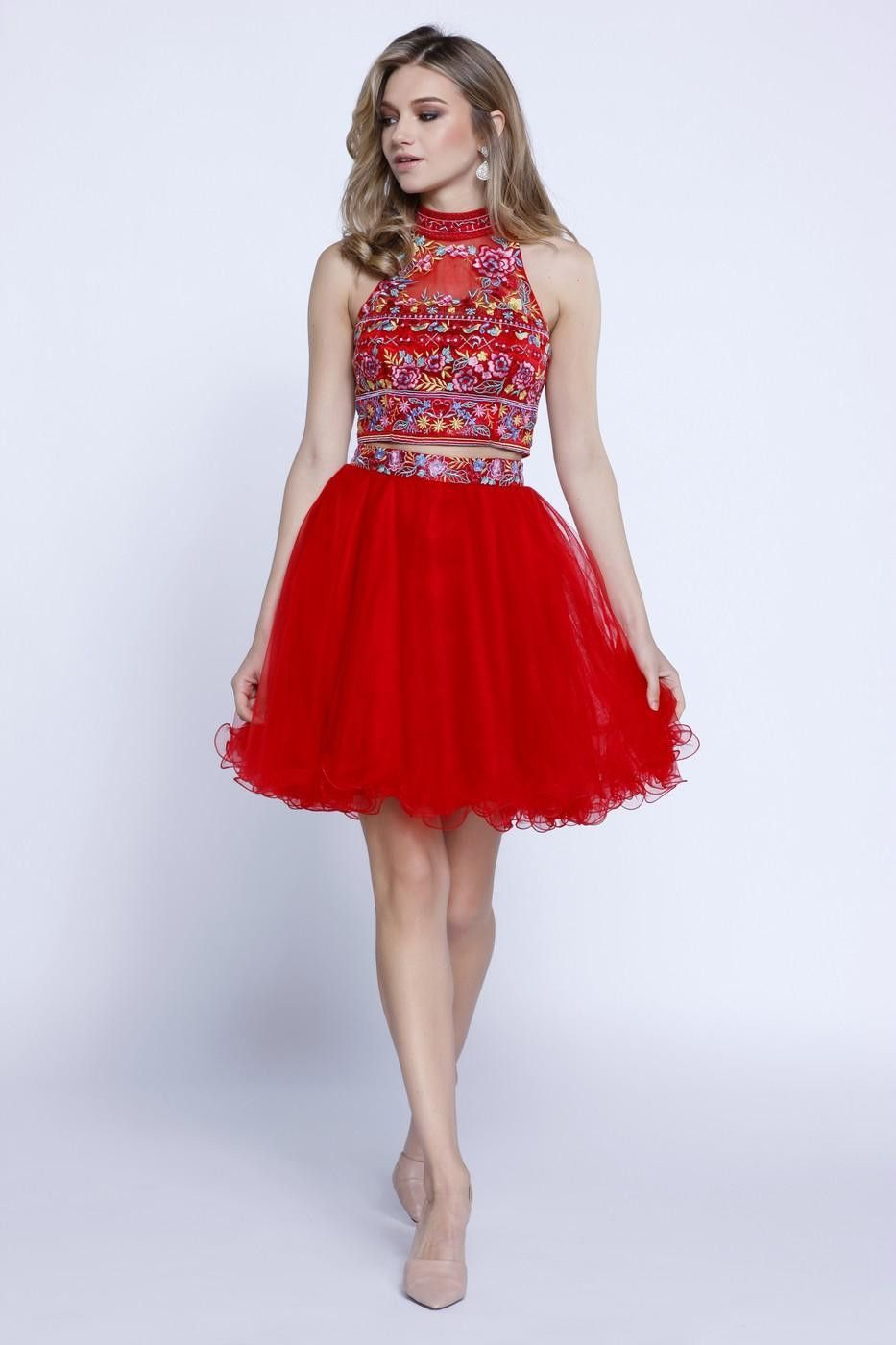 Fun and flirty two piece homecoming dresses formal cocktail