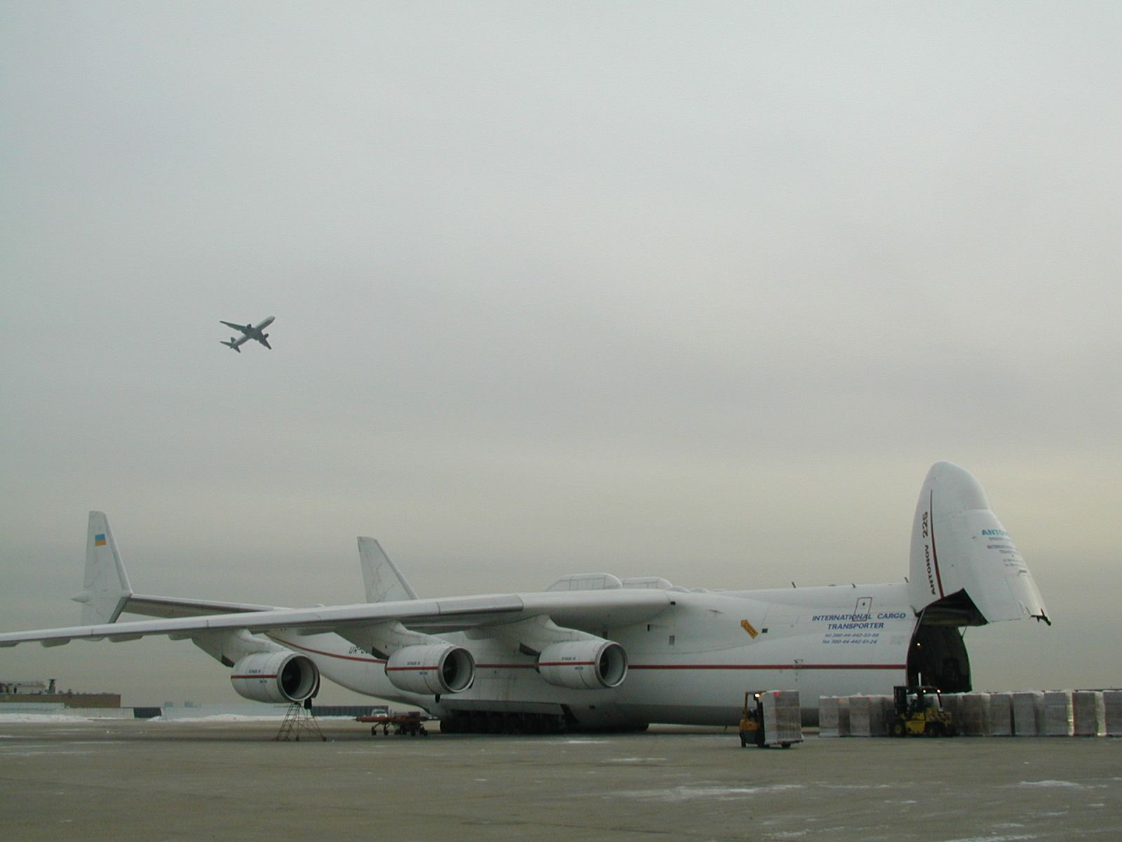 The Antonov 225 Cargo Plane On A Charitable Mission At Jfk New