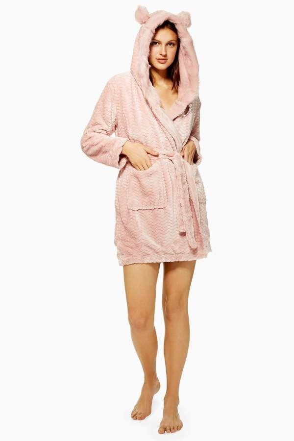 Topshop Dusty Pink Faux Fur Robe Pink Dusty Topshop Fur Robe Pink Faux Fur Dusty Pink